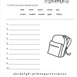 Free Back To School Worksheets And Printouts   Free Printable Classroom Worksheets