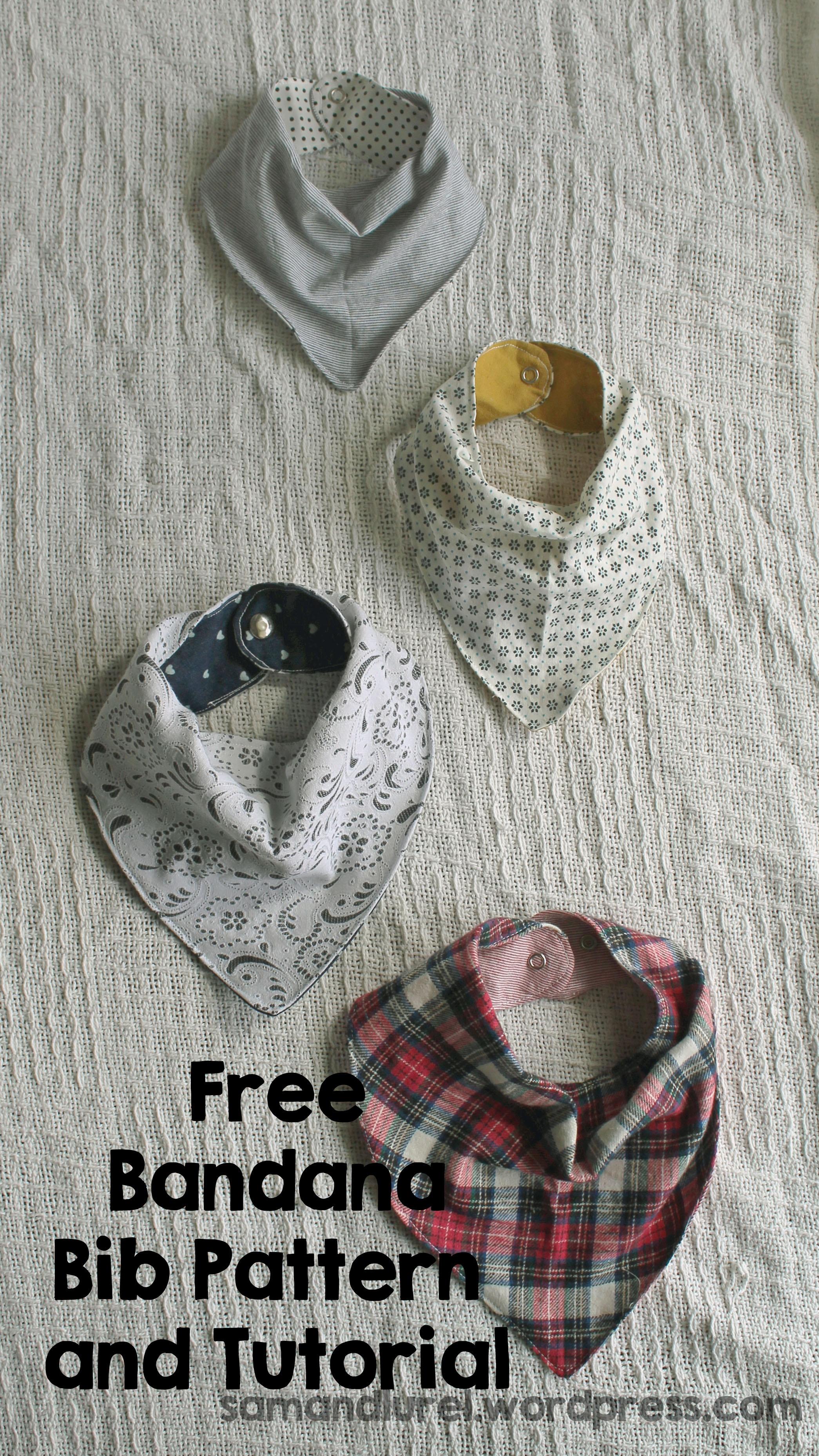 Free Bandana Bib Pattern | - Free Printable Baby Bandana Bib Pattern