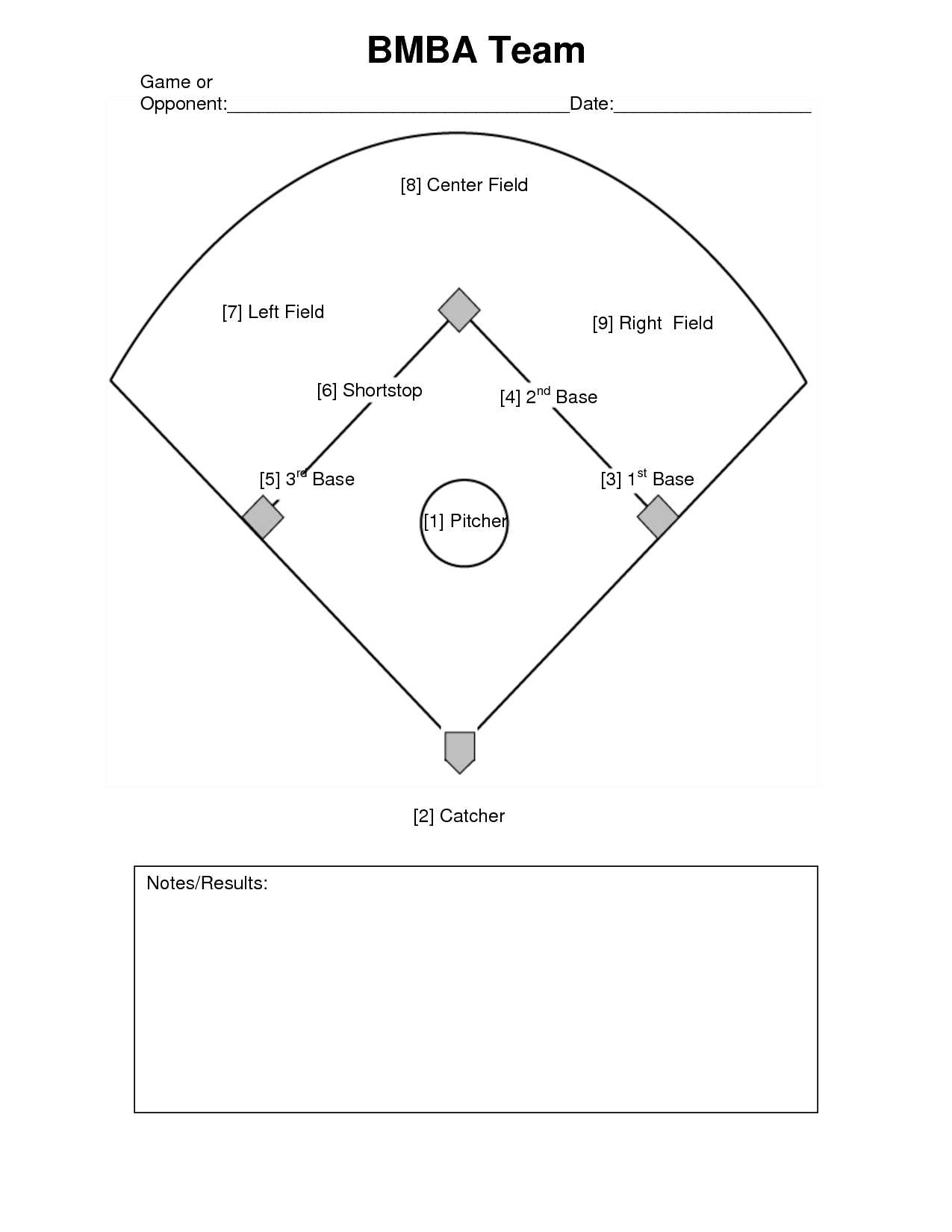 Free Baseball Positions Diagram, Download Free Clip Art, Free Clip - Free Printable Baseball Field Diagram