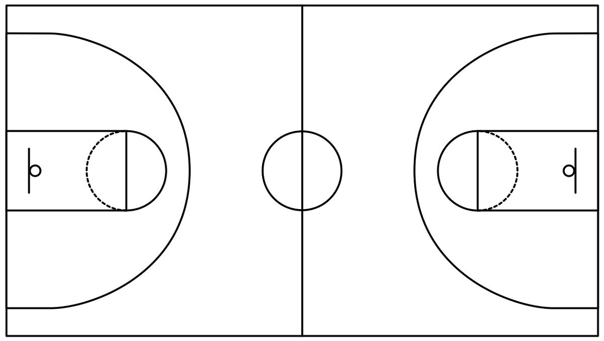 Free Basketball Court Diagrams | Diagram Link - Free Printable Basketball Court