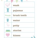 Free Bedtime Routine Printable From Love And Life Cards | Printables   Free Printable Bedtime Routine Chart