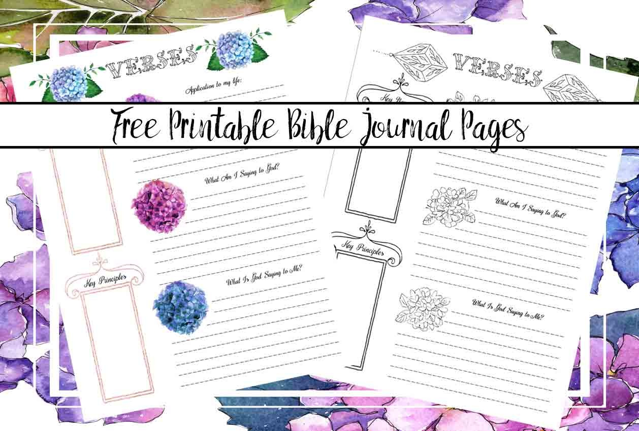 Free Bible Journaling Printables (Including One You Can Color!) - Free Printable Bible Study Journal Pages