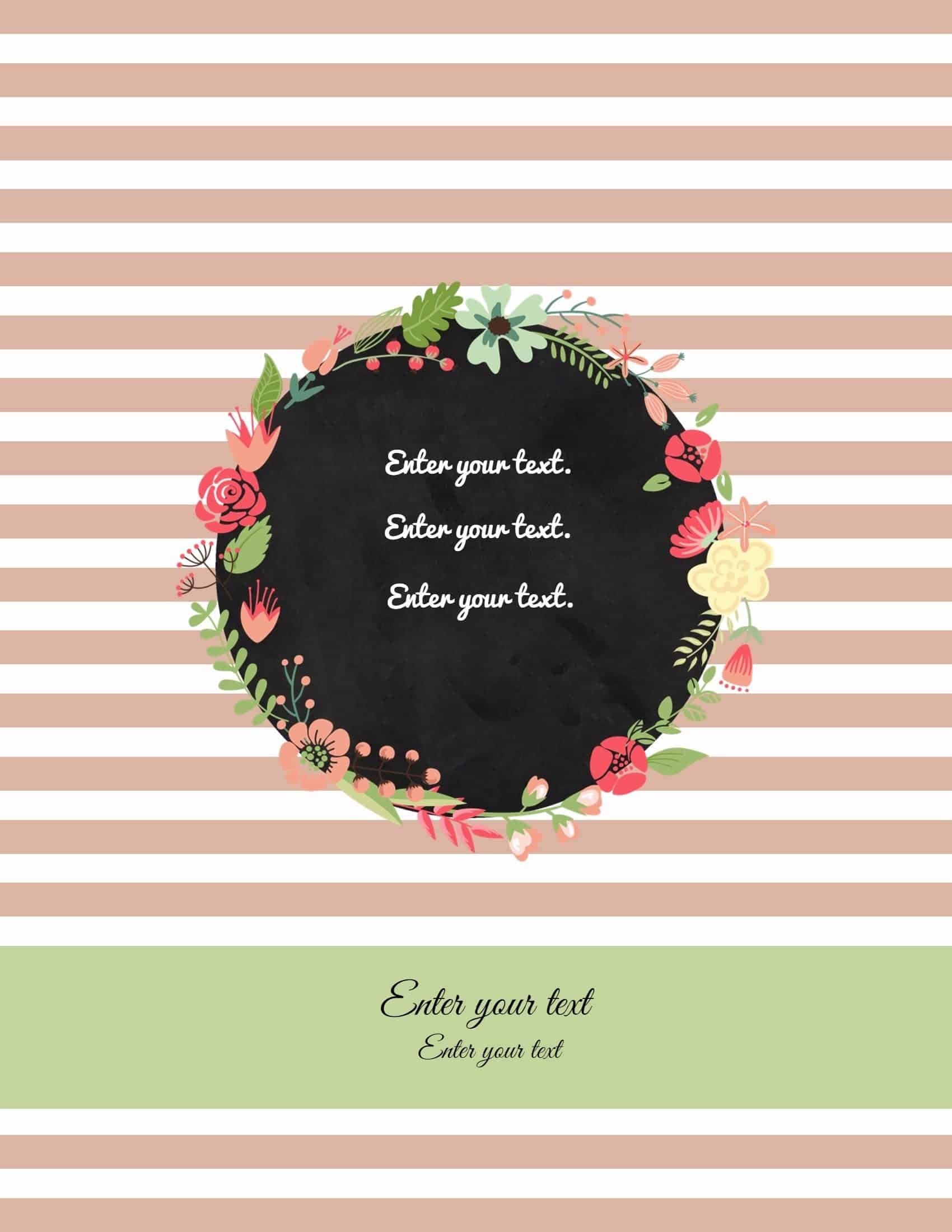 Free Binder Cover Templates | Customize Online & Print At Home | Free! - Free Printable Watercolor Notebook Covers