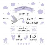 Free Birth Stats Board Svg, Png, Eps & Dxf| Free Svg & Png   Free Printable Baby Announcement Templates