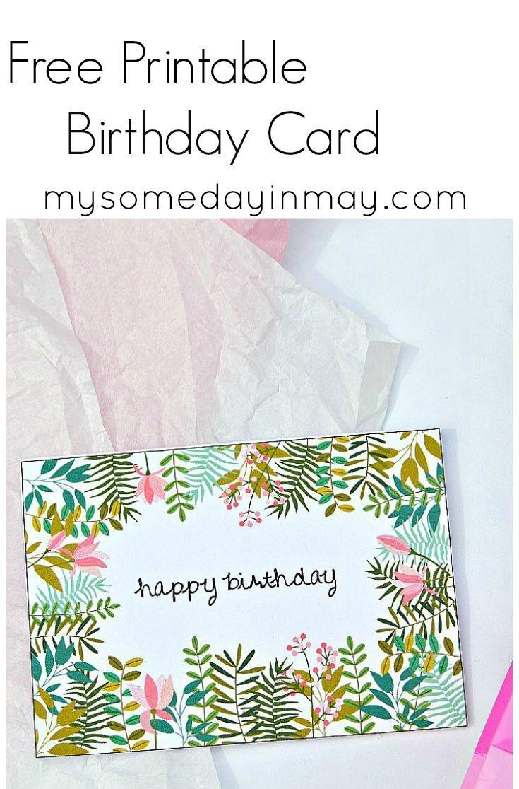 Free Birthday Card | Birthday Ideas | Free Printable Birthday Cards - Free Printable Greeting Card Templates