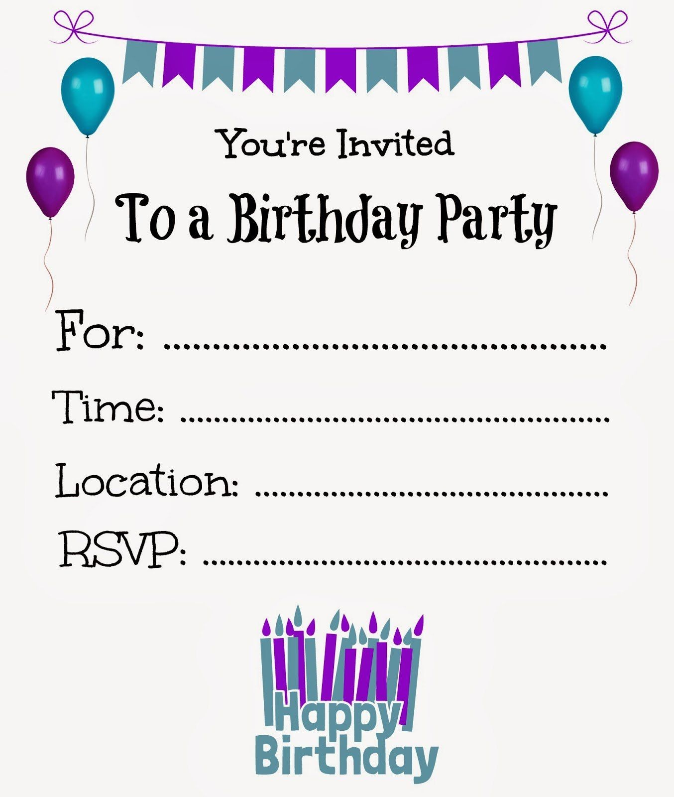 Free Birthday Invitation Templates To Inspire You How To Create The - Make A Birthday Invitation Online Free Printable