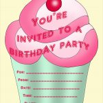 Free Birthday Party Invites For Kids In High Print Quality   Free Printable Girl Birthday Invitations