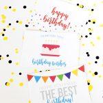 Free Birthday Printables   Eighteen25   Free Birthday Printables