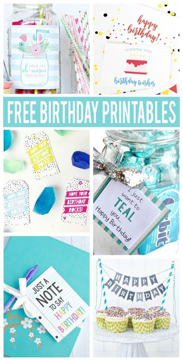 Free Birthday Printables | Party Ideas | Free Printable Birthday - Free Birthday Printables