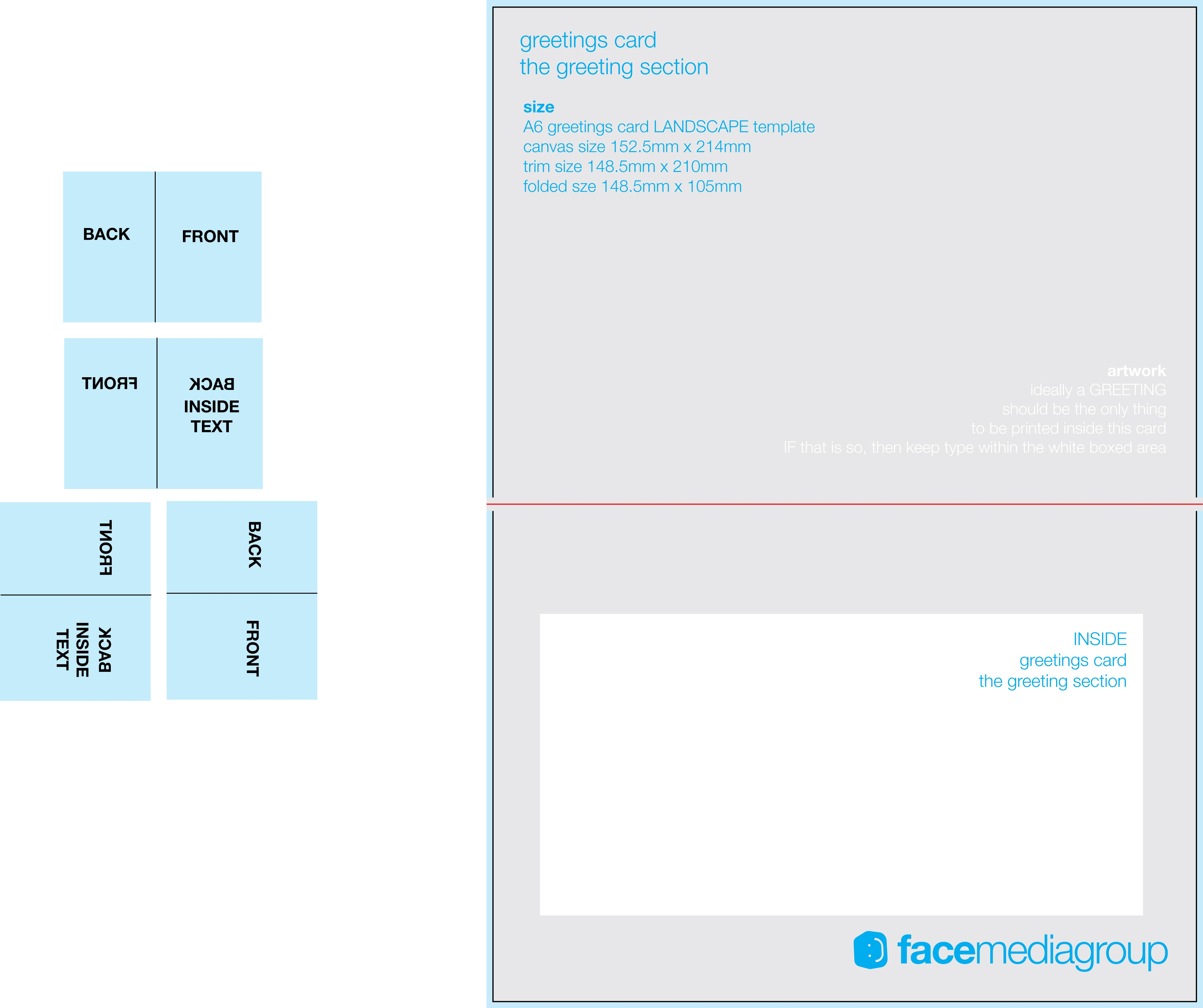 Free Blank Greetings Card Artwork Templates For Download   Face - Free Printable Greeting Card Templates