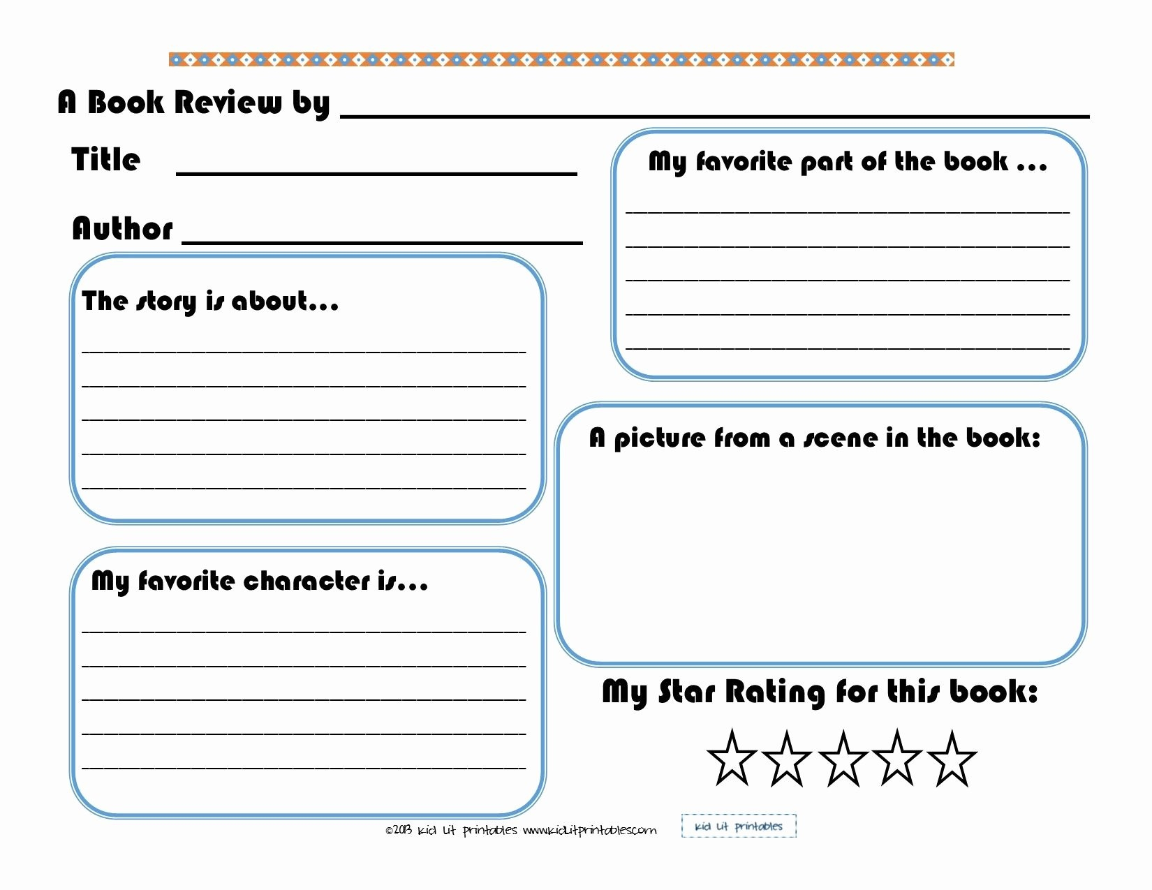 Free Book Report Template   Mathosproject - Book Report Template Free Printable