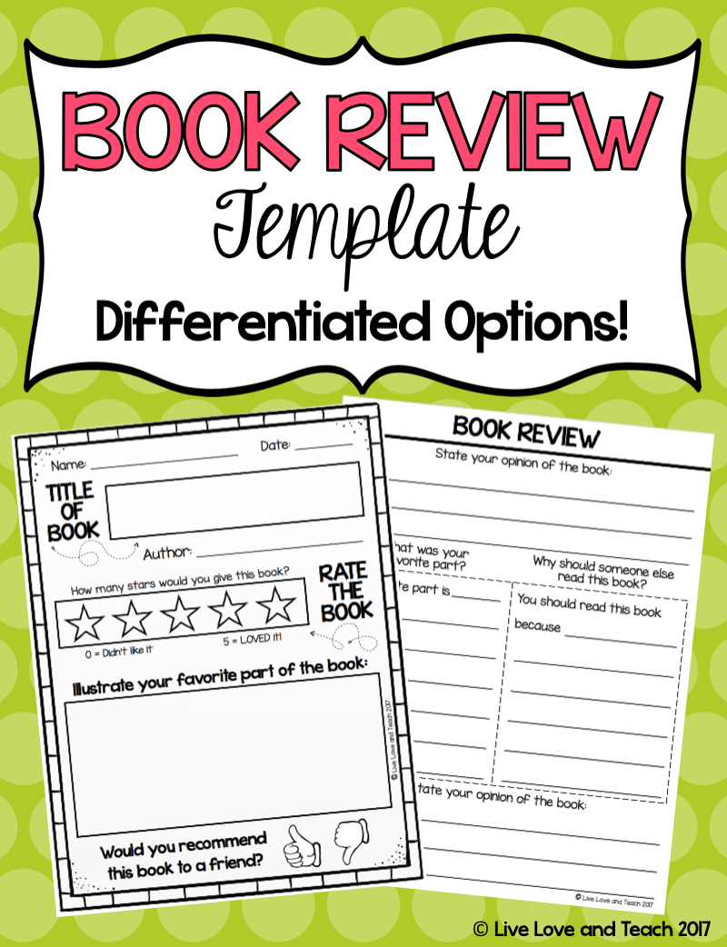 Free Book Review Template! | Live Love And Teach - Free Printable Story Books For Grade 1