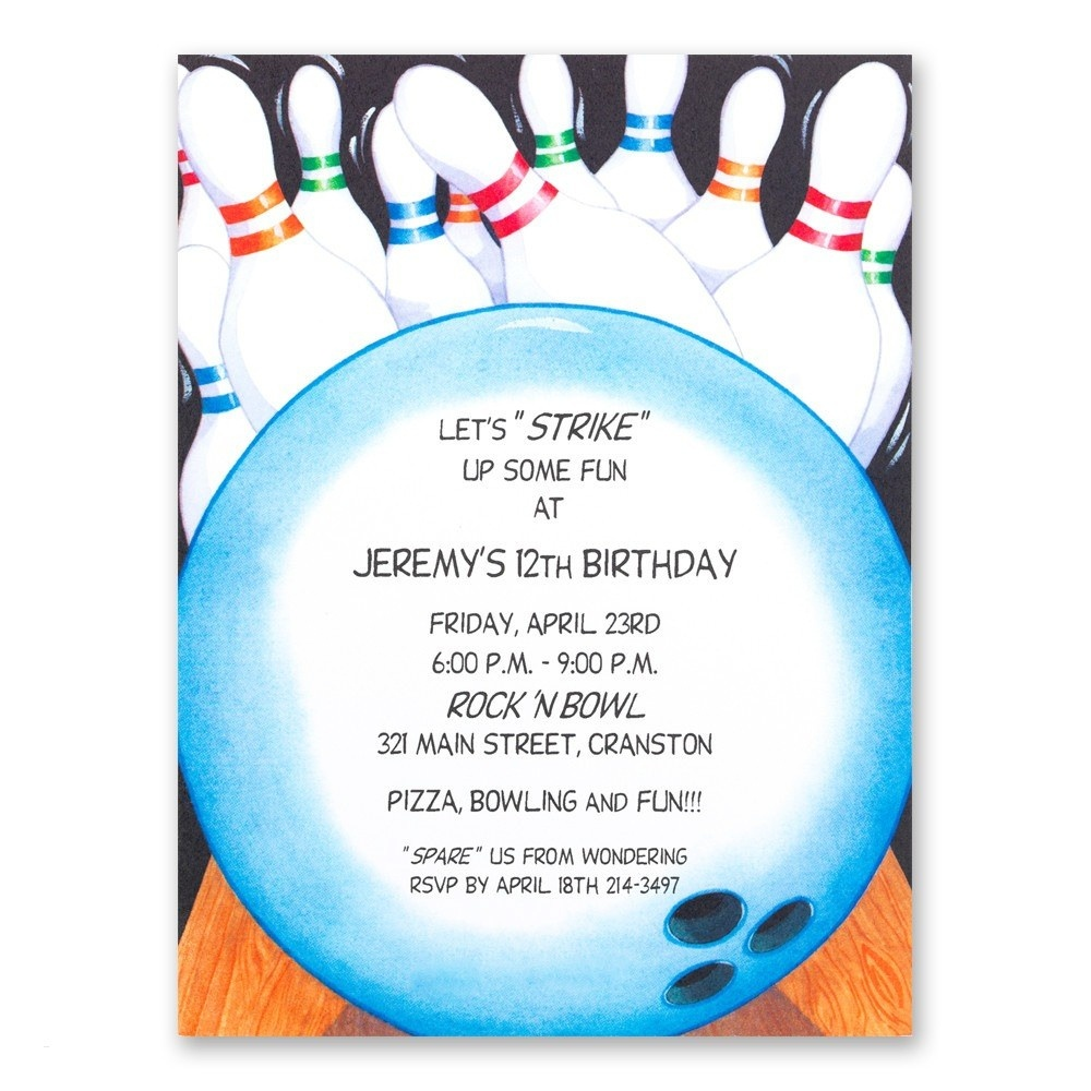 Free Bowling Invitations Template - Tutlin.psstech.co - Free Printable Bowling Invitation Templates