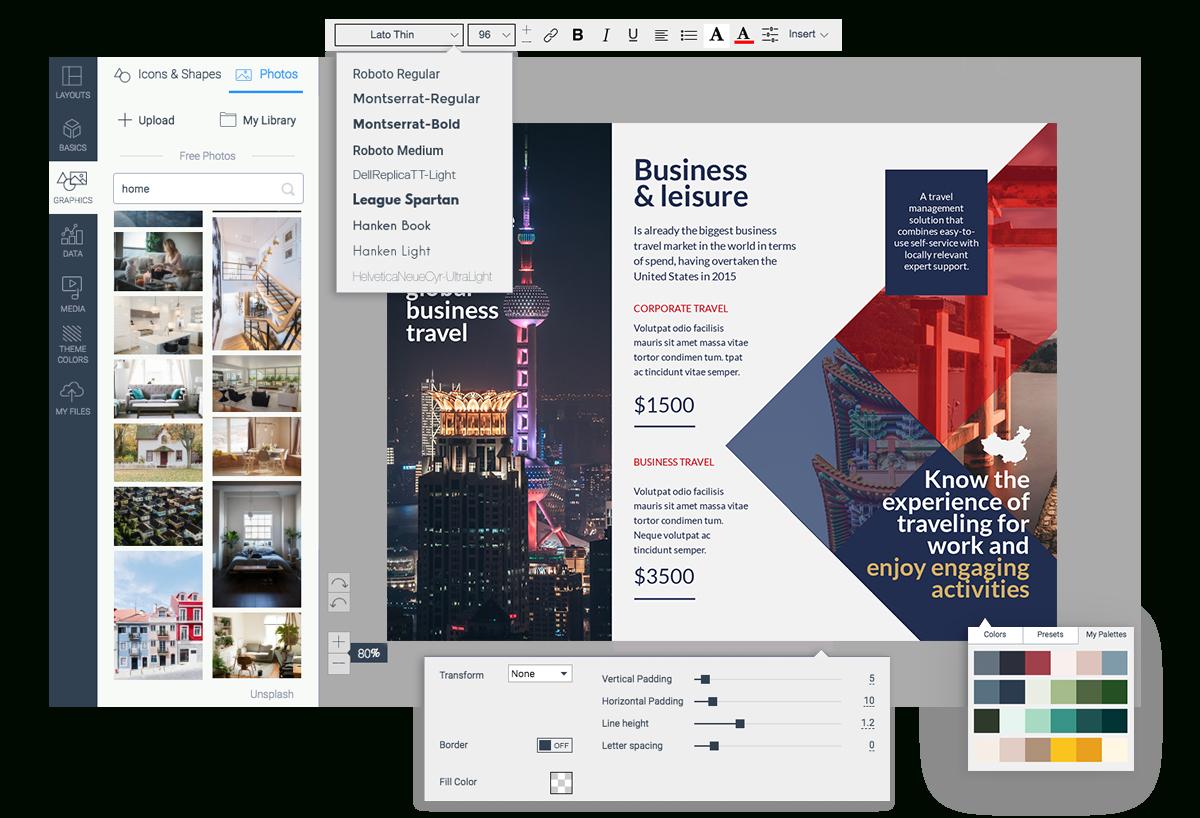 Free Brochure Maker | Brochure Creator | Visme - Free Printable Brochure Maker Download