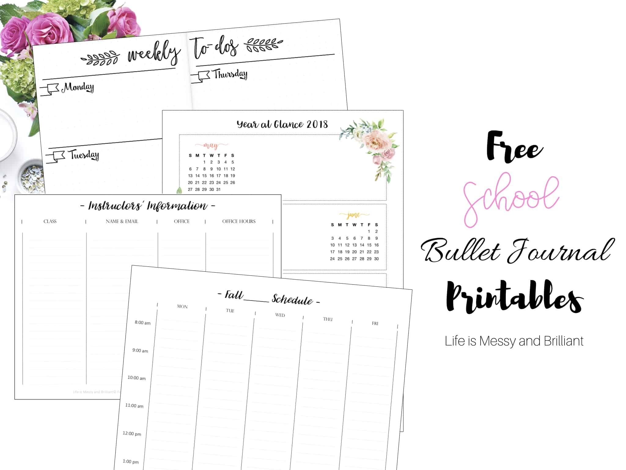 Free Bullet Journal Printables - Bullet Journal Printables Free