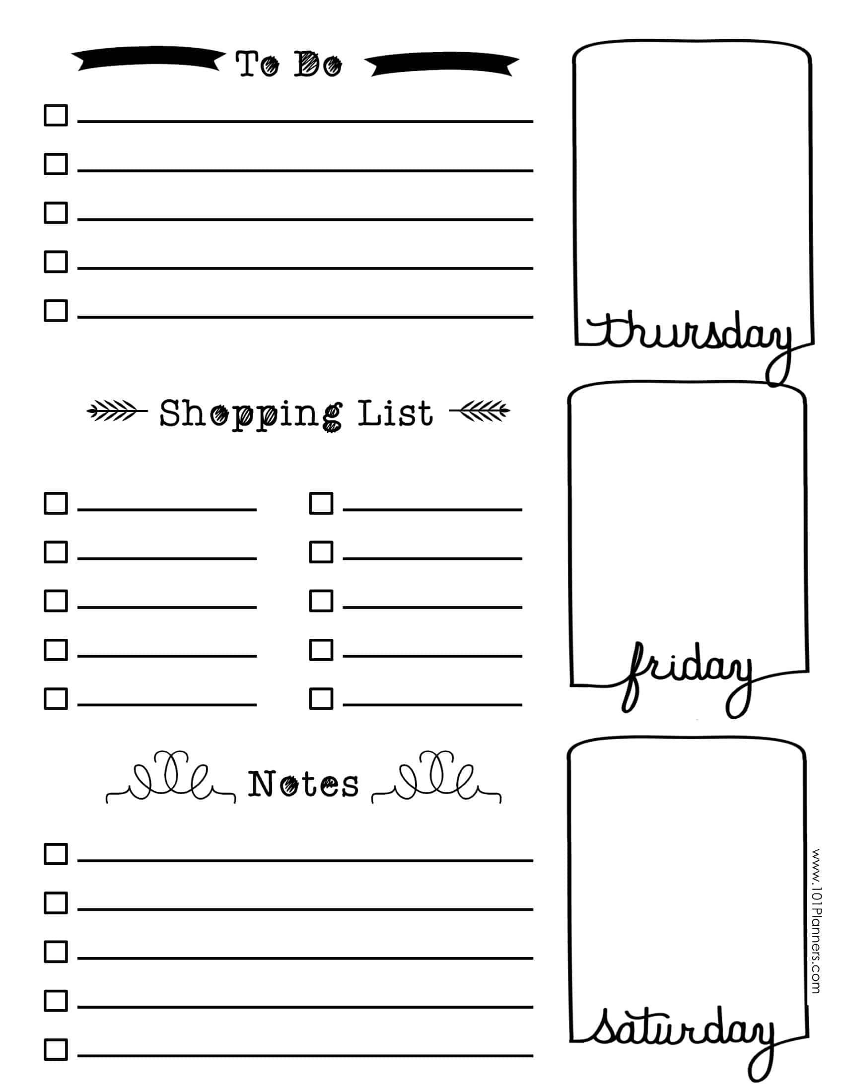Free Bullet Journal Printables | Customize Online For Any Planner Size - Bullet Journal Printables Free