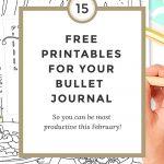 Free Bullet Journal Printables February 2017   Wundertastisch   Free Bullet Journal Printables