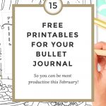 Free Bullet Journal Printables February 2017   Wundertastisch   Free Bullet Journal Printables 2017