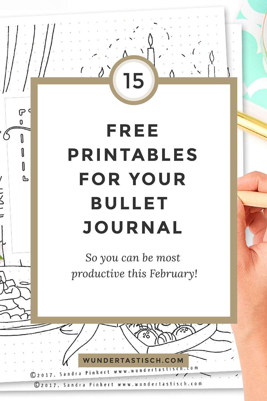 Free Bullet Journal Printables February 2017 - Wundertastisch - Free Bullet Journal Printables