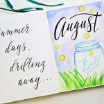 Free Bullet Journal Printables For August ⋆ Sheena Of The Journal   Free Printable Watercolor Notebook Covers
