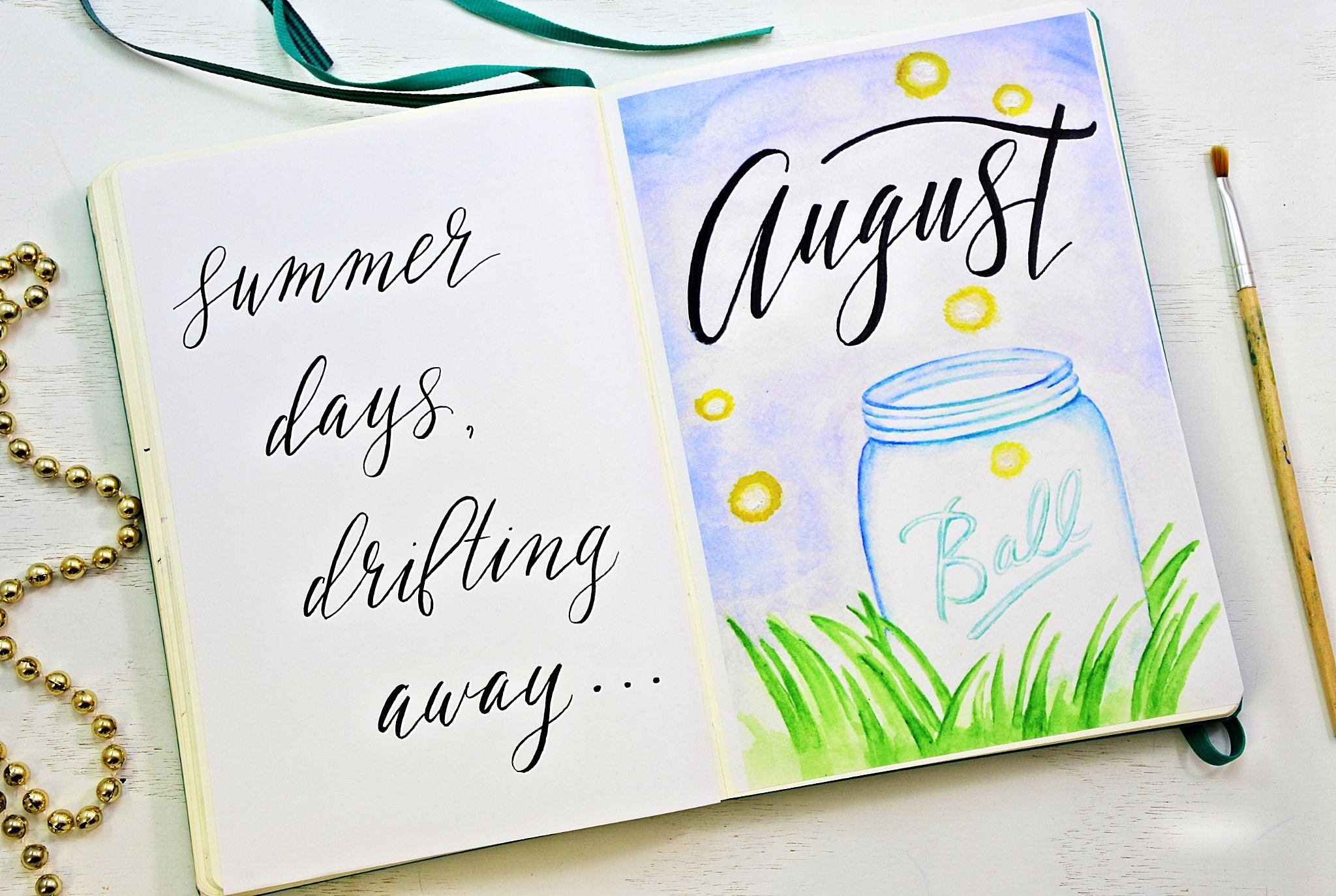 Free Bullet Journal Printables For August ⋆ Sheena Of The Journal - Free Printable Watercolor Notebook Covers