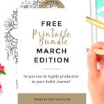 Free Bullet Journal Printables March 2017   Wundertastisch   Free Bullet Journal Printables 2017