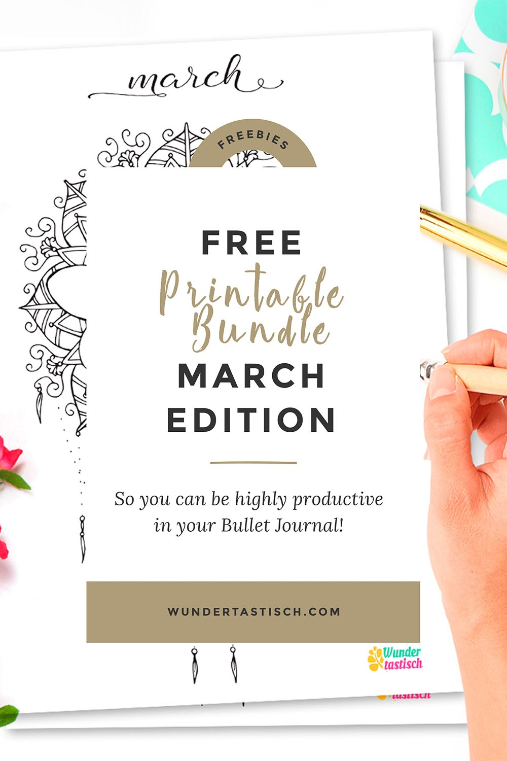 Free Bullet Journal Printables March 2017 - Wundertastisch - Free Bullet Journal Printables 2017