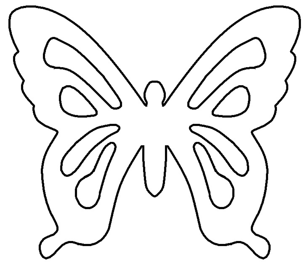 Free Butterfly Template, Download Free Clip Art, Free Clip Art On - Free Printable Butterfly Template