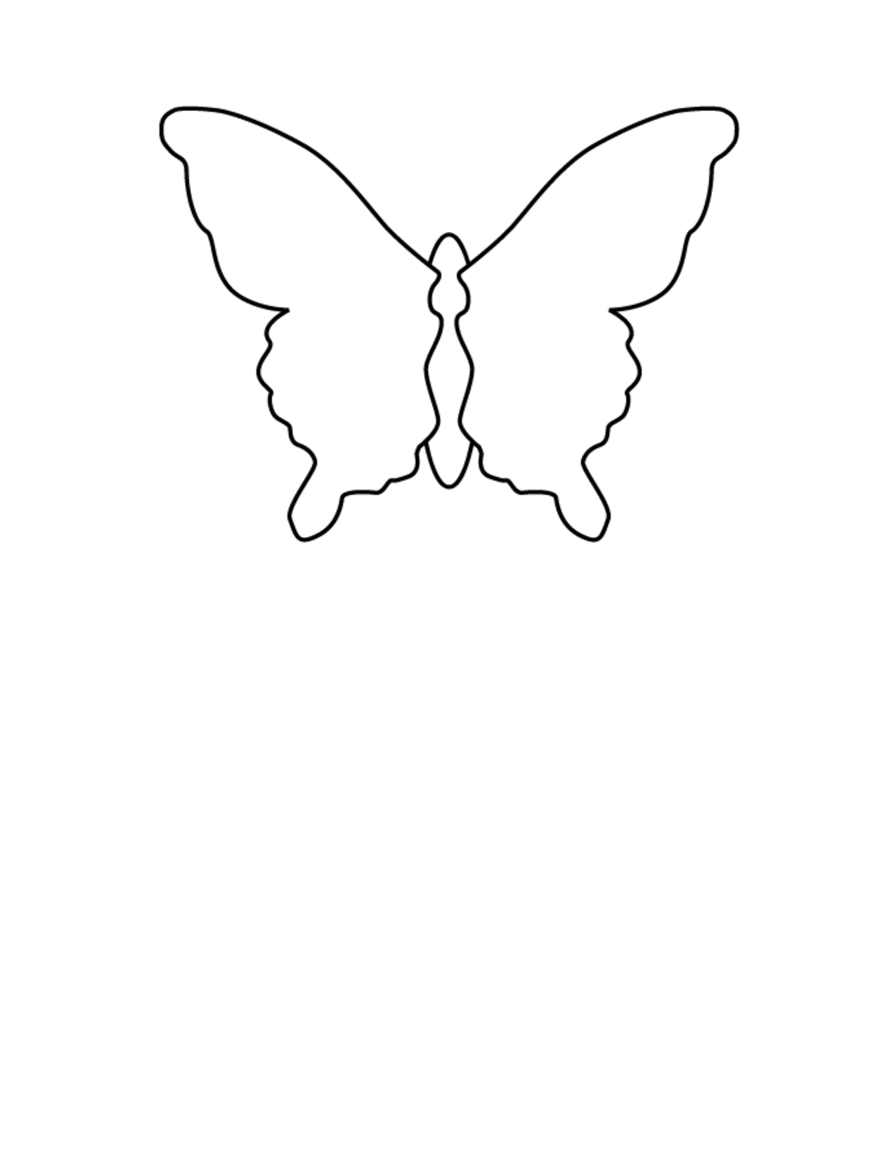 Free Butterfly Wing Outline, Download Free Clip Art, Free Clip Art - Free Printable Butterfly Wings