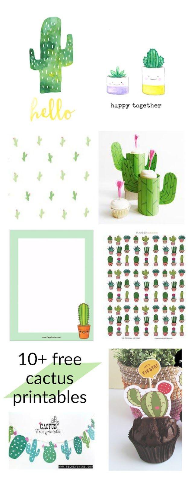 Free Cactus Printables - Kaktus - Round-Up | Printables | Classroom - Free Cactus Printable