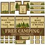 Free Camping Party Printables From Printabelle | Catch My Party   Free Camping Printables