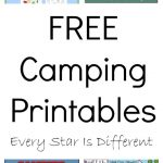Free Camping Printables   Every Star Is Different   Free Camping Printables