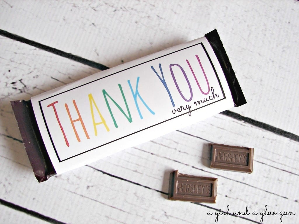 Free Candy Bar Wrapper Thank You (And Congrats) Printables! - A Girl - Free Candy Wrapper Printable