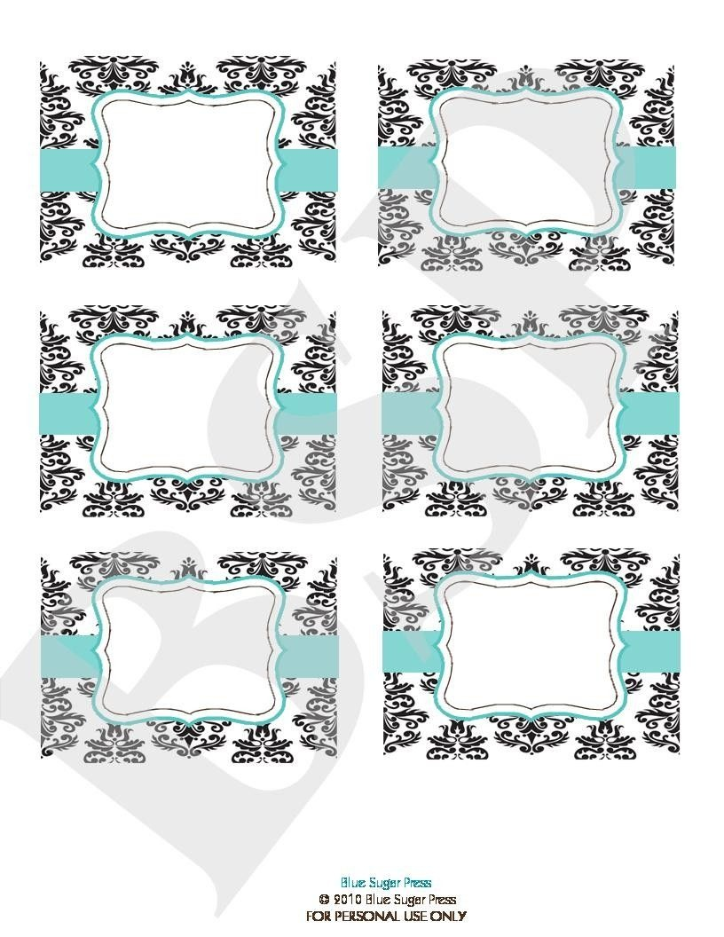 Free Candy Buffet Printables   Candy Buffet Labels Printable. Blue - Free Printable Candy Table Labels