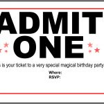 Free Carnival Ticket Invitation Template, Download Free Clip Art   Free Printable Admit One Invitations