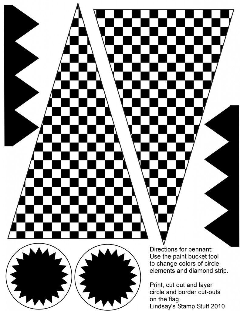 Free Checkered Flag Printables & More   Ideas   Hot Wheels Party - Free Printable Checkered Flag Banner