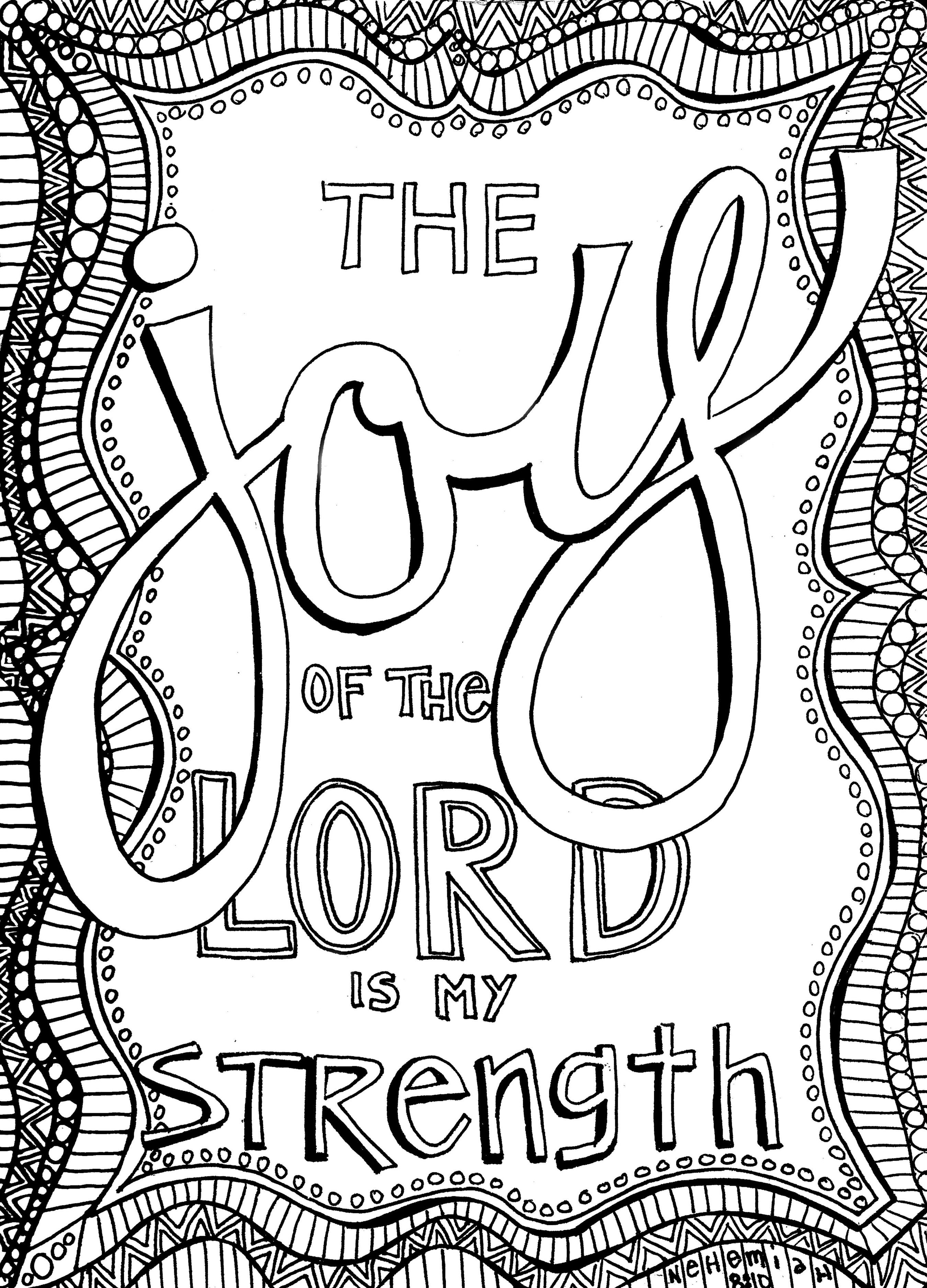 Free Christian Coloring Pages For Adults - Roundup | Bible - Free Printable Bible Verses Adults