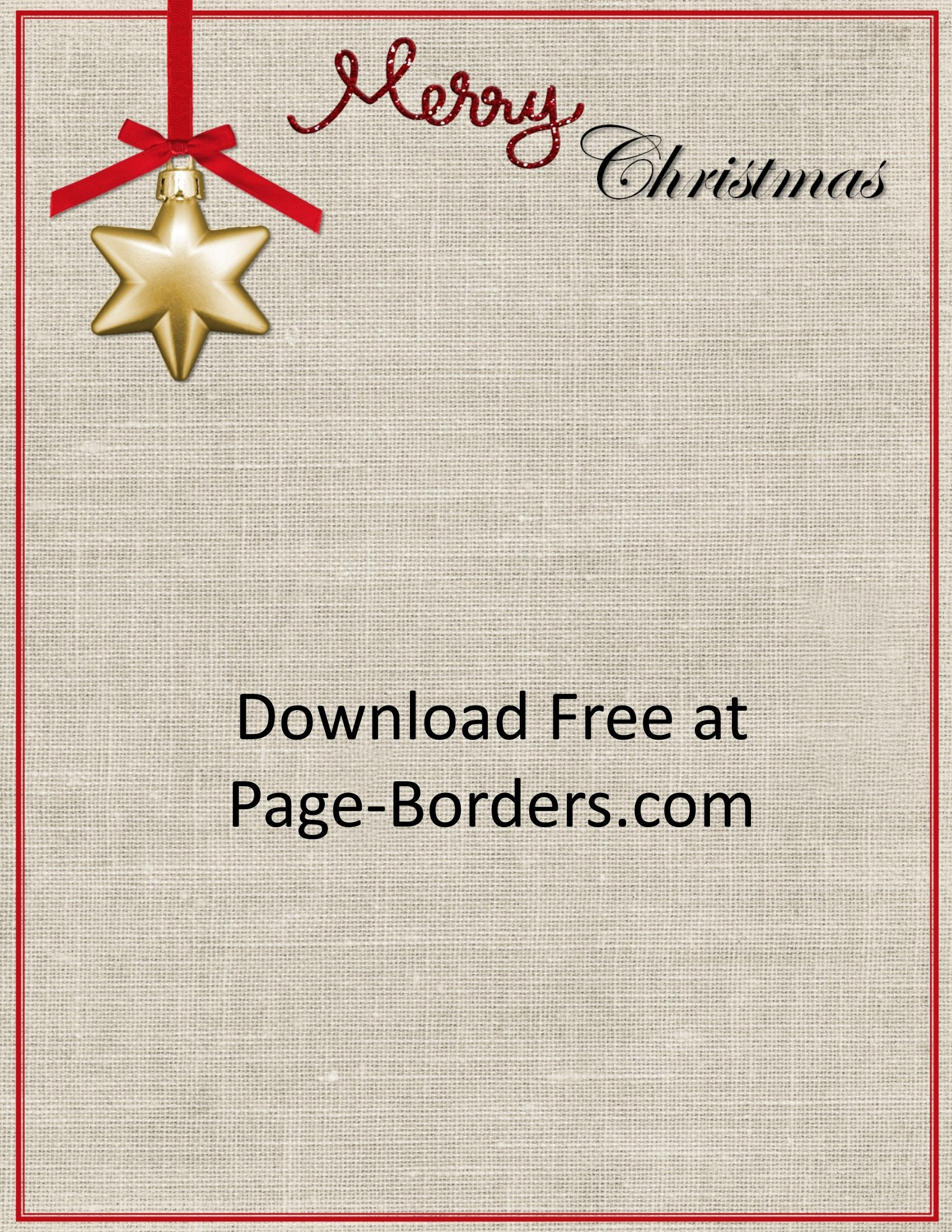 Free Christmas Border | Customize Online | Personal & Commercial Use - Free Printable Christmas Stationery For Kids