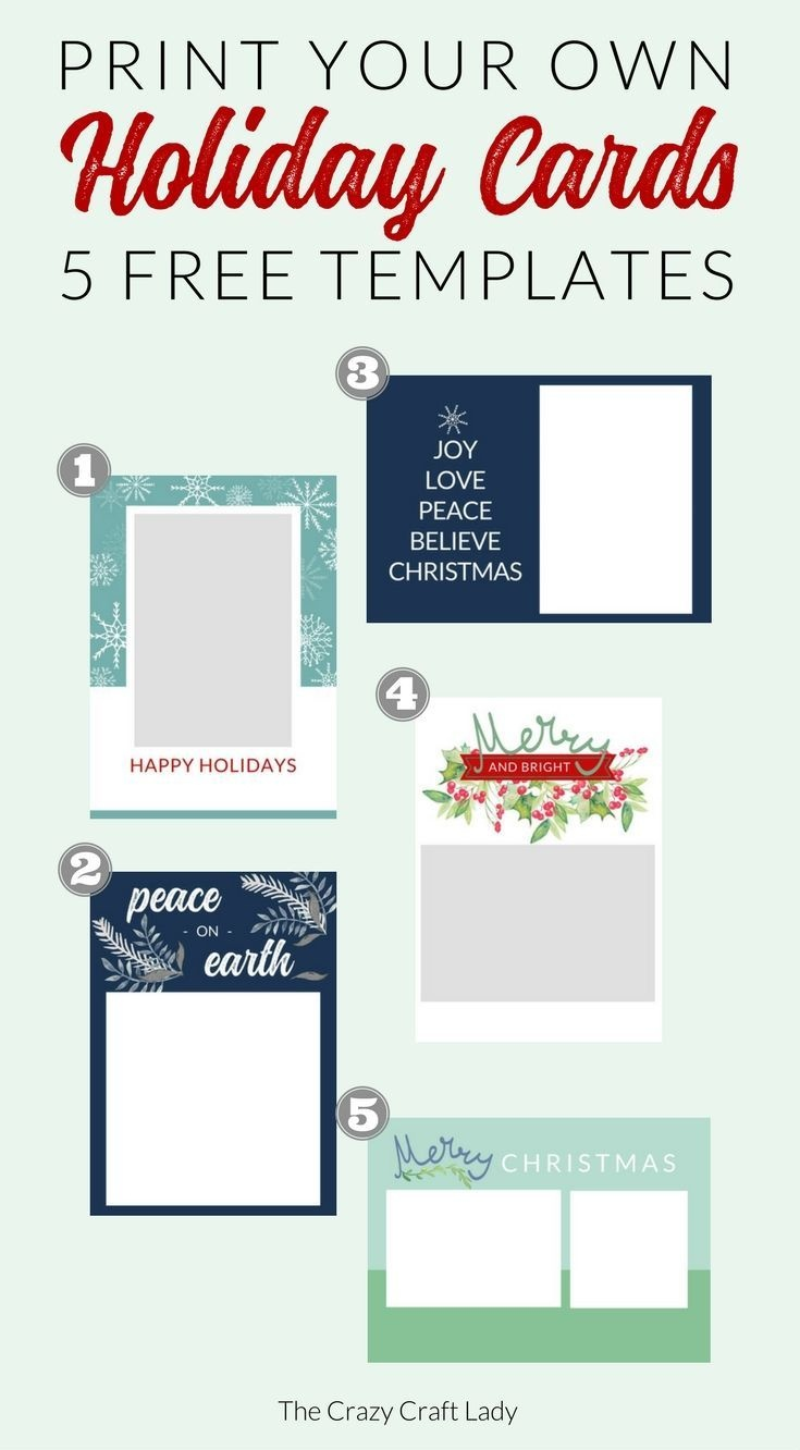 Free Christmas Card Templates   Do It Yourself Today   Christmas - Free Printable Cards No Download Required