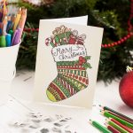 Free Christmas Coloring Card   Sarah Renae Clark   Coloring Book   Create Your Own Free Printable Christmas Cards