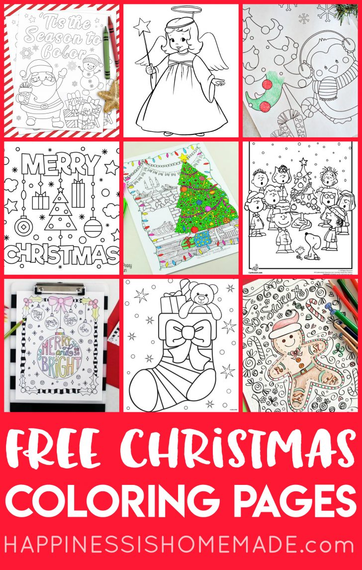 Christmas Pictures To Color Free Printable