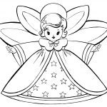 Free Christmas Coloring Pages   Retro Angels   The Graphics Fairy   Free Printable Angels