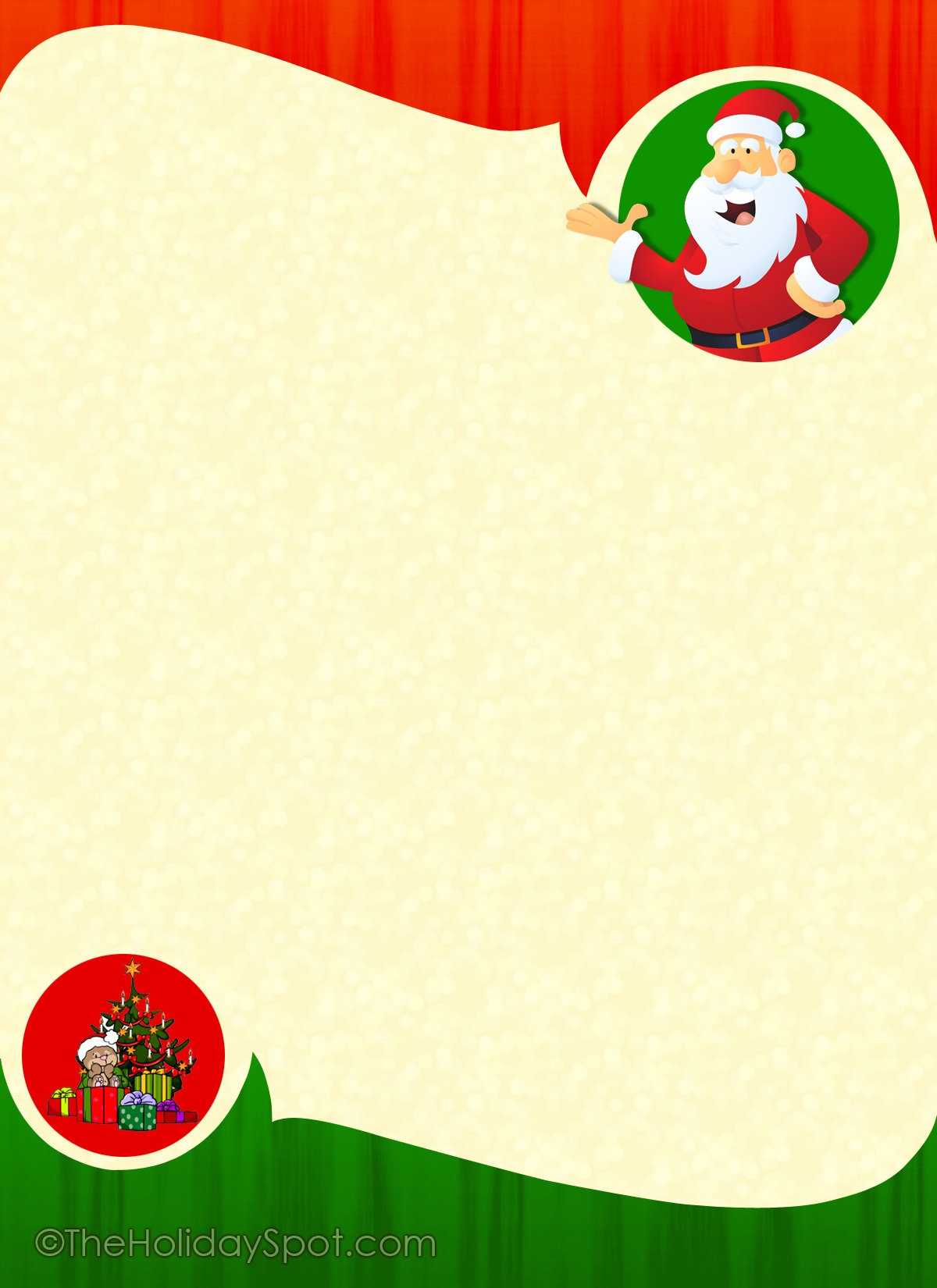 Free Christmas Letterhead | Free Stationery For Christmas - Free Printable Christmas Stationery For Kids