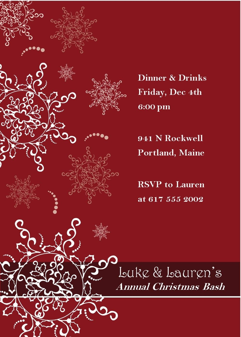 Free Christmas Party Invitation Templates Downloads | Party - Holiday Invitations Free Printable