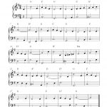 Free Christmas Piano Sheet Music Notes, It Came Upon A Midnight Clear   Free Printable Christmas Sheet Music For Piano