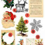 Free Christmas Printable & Vintage Christmas Clip Art | Christmas   Free Printable Vintage Christmas Clip Art