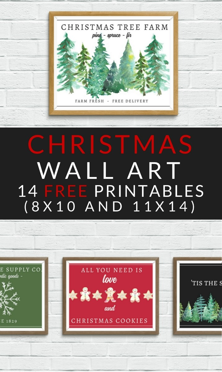 Free Christmas Printables - Farmhouse Christmas Art - The Crazy - Free Printable Christmas Decorations