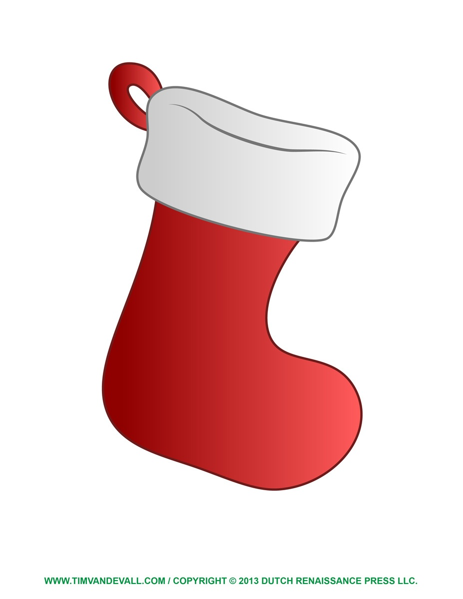 Free Christmas Stocking Template, Clip Art & Decorations - Free Printable Christmas Stocking Template