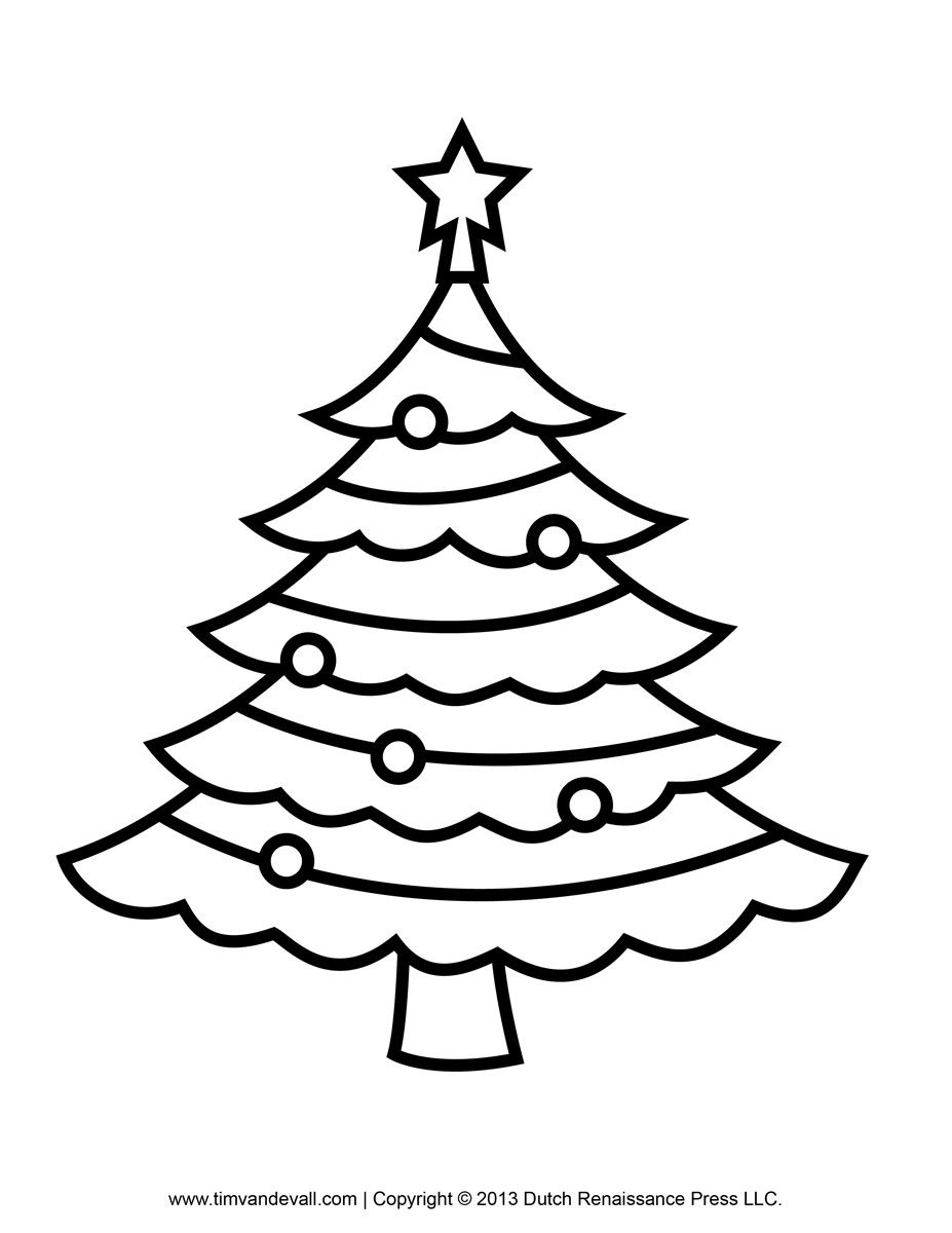 Free Coloring Pages Of Christmas Tree Templates | Xmas Pyrography - Free Printable Christmas Tree Template