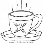 Free Coloring S Of Teacup Tea Cup Coloring Page In Uncategorized   Free Printable Tea Cup Coloring Pages
